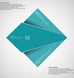 Rectangle infographic template divided to three vector