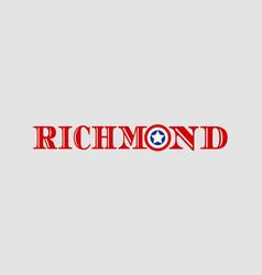 richmond city name vector image