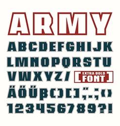 Sans serif contour font vector
