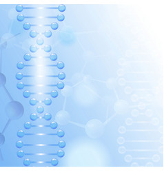 science background with DNA theme and copyspace vector image