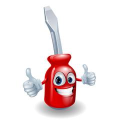 screwdriver mascot character vector image