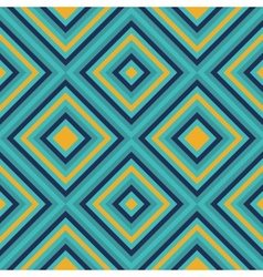 Seamless geometric square pattern in retro style vector image