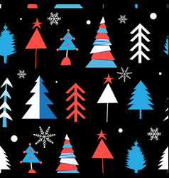 seamless winter pattern from different christmas vector image