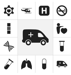 set of 12 editable clinic icons includes symbols vector image