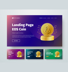 Set of templates web header with gold stacks of vector