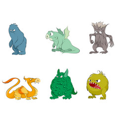 six fairy monsters vector image