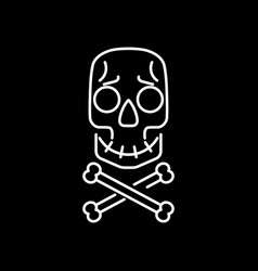skull and crossbones cartoon face vector image