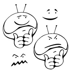 Smiley set different grimaces vector