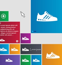 Sneakers icon sign buttons Modern interface vector image