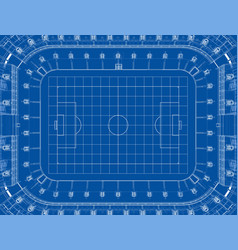 Soccer stadium or football arena concept vector