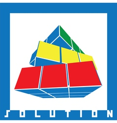 solution cube vector image