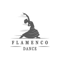 Spanish dance flamenco logotype vector