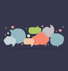speech bubbles doodle in different colors vector image