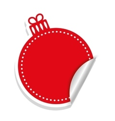 sphere icon Merry Christmas design vector image