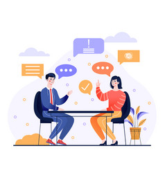 talk conversation and speaking dialogue concept vector image