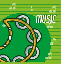 Tambourine music instrument vector