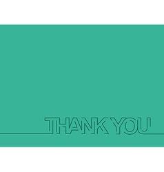 Thank You Text Design vector image