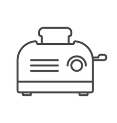 Toaster icon outline vector