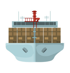 transportation goods sea transportation and vector image
