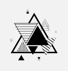 Triangle geometric elements flat backround vector