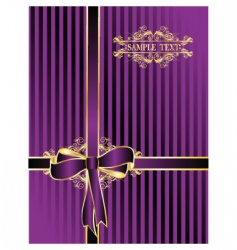 violet bow for gifts vector image vector image