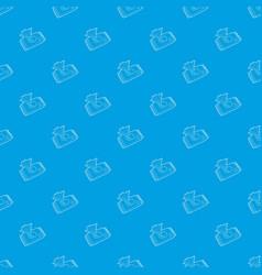 Wet wipe pack pattern seamless blue vector