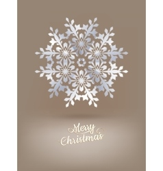 White paper christmas snowflake EPS 10 vector image