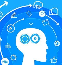 Workflow Social media concept vector image