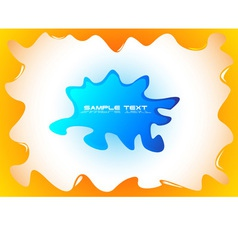 Abstract blot background vector image