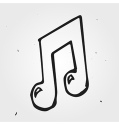 music note isolated hand drawn vector image vector image