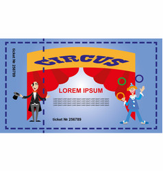 a ticket for the circus vector image