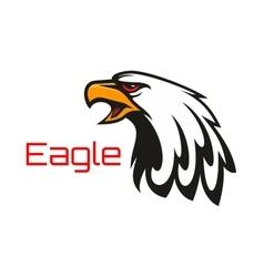Bald Eagle crying emblem vector image