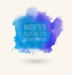 blue watercolor hand drawn isolated wash vector image vector image