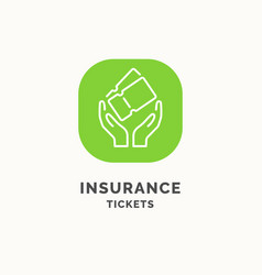 insurance tickets during the journey vector image vector image