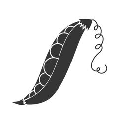 pea pod vegetable icon graphic vector image