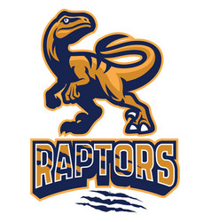 set of raptor mascot vector image vector image