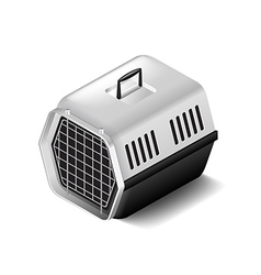Cat carrier isolated on white vector image vector image