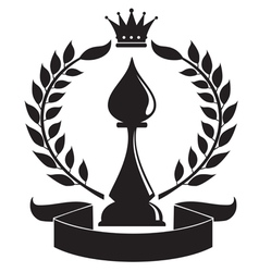 chess bishop vector image vector image