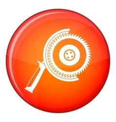 Circle saw icon flat style vector image vector image