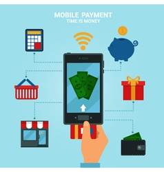 Concept of Mobile Payments or Mobile Banking vector image