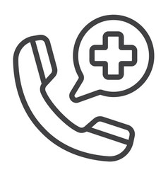emergency call line icon medicine and healthcare vector image