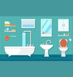 furnishing bathroom interior vector image