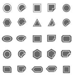 Label icons on white background vector image vector image
