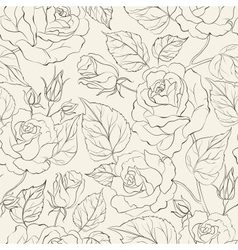Little Rose seamless background vector image vector image