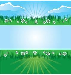 summer landscape banner vector image