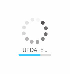 update icon system software upgrade concept vector image vector image