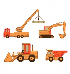 Construction cars vector