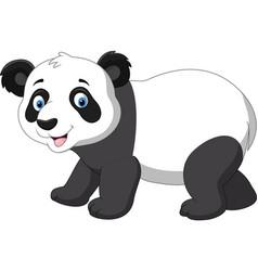 Cute baby panda cartoon vector