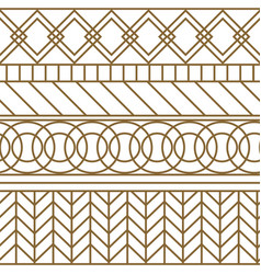 gold and white geometric line seamless vector image vector image