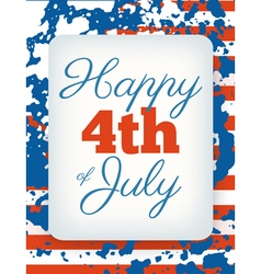 Happy 4th of July card national american holiday vector image vector image